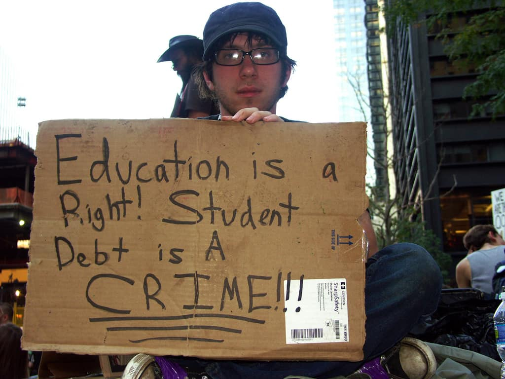 College debt is a crime?